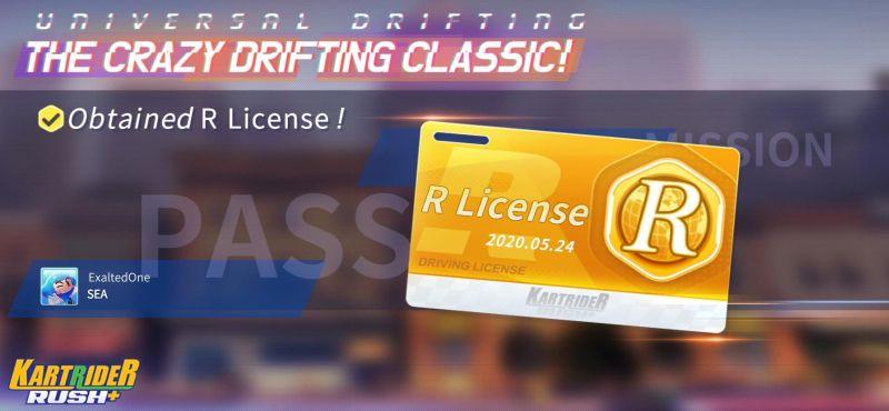 kartrider rush+ r license