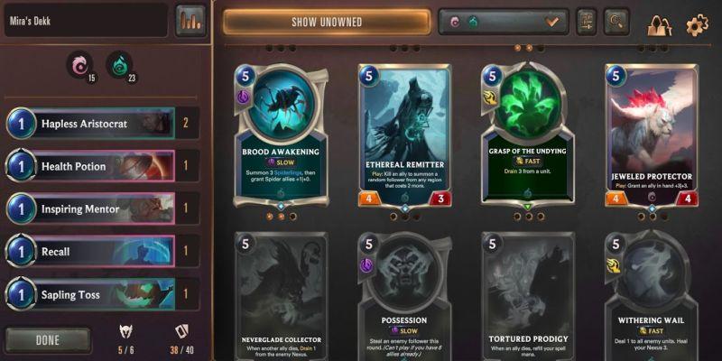 how to build a custom deck in legends of runeterra