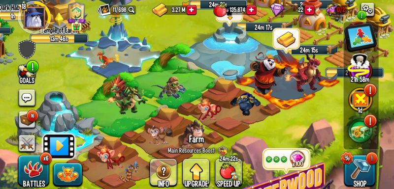 how to boost production in monster legends