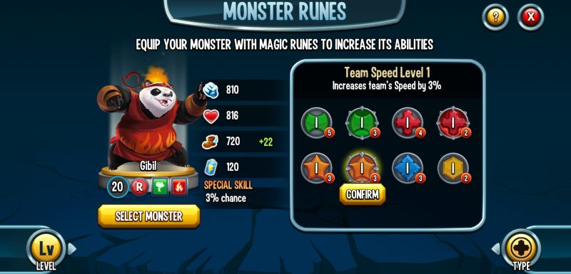 monster legends runes