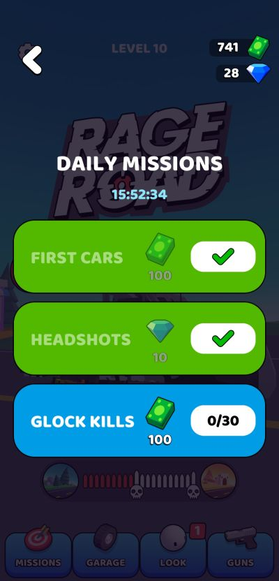 rage road daily missions