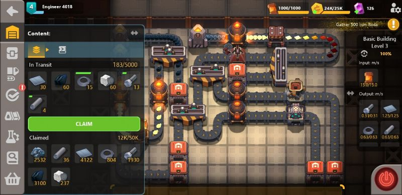 sandship crafting factory product inventory