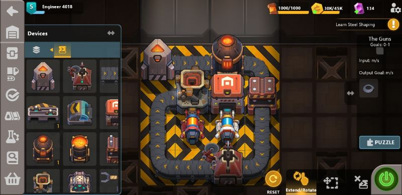 how to solve puzzles in sandship crafting factory