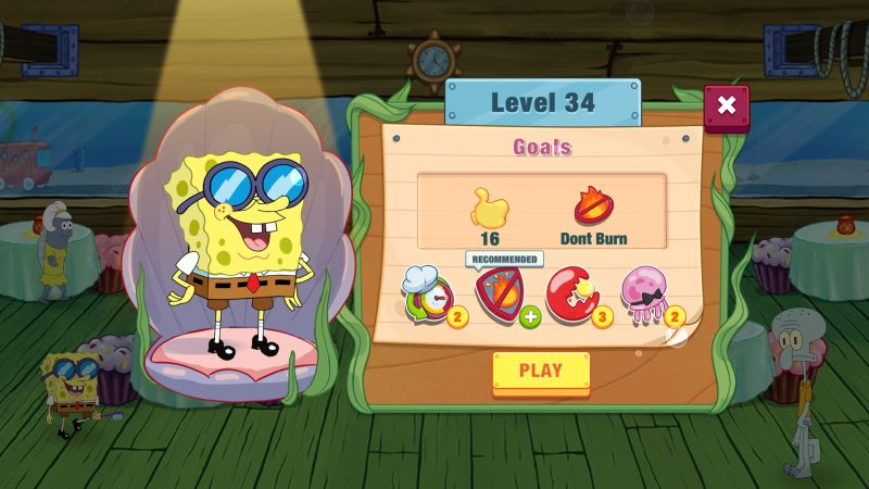 spongebob krusty cook-off level goals