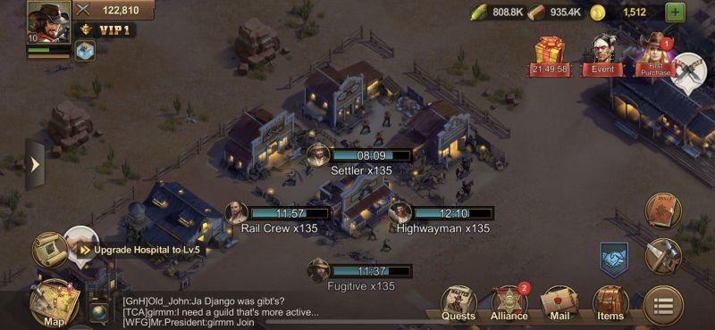 wild frontier town layout