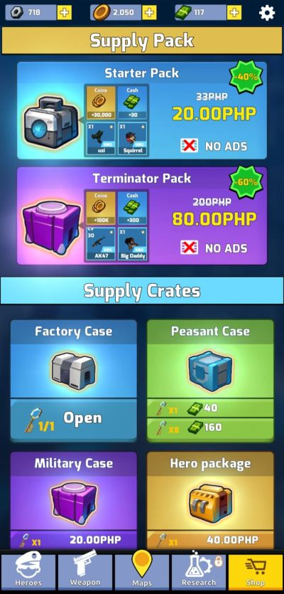 zombie idle defense weapon crates