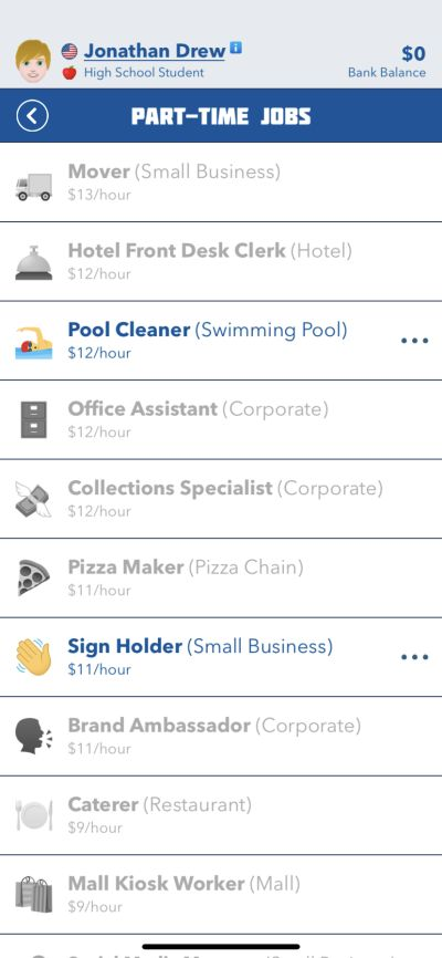 part-time jobs in bitlife