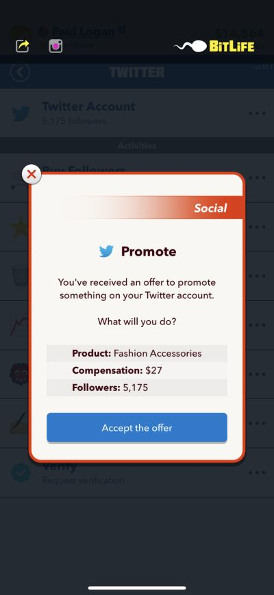 how to become an influencer in bitlife