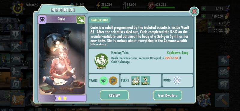 curie fallout shelter online