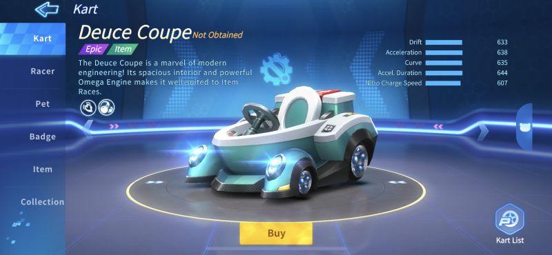 deuce coupe kartrider rush+
