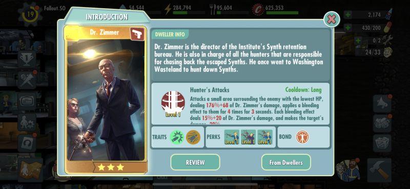 dr zimmer fallout shelter online