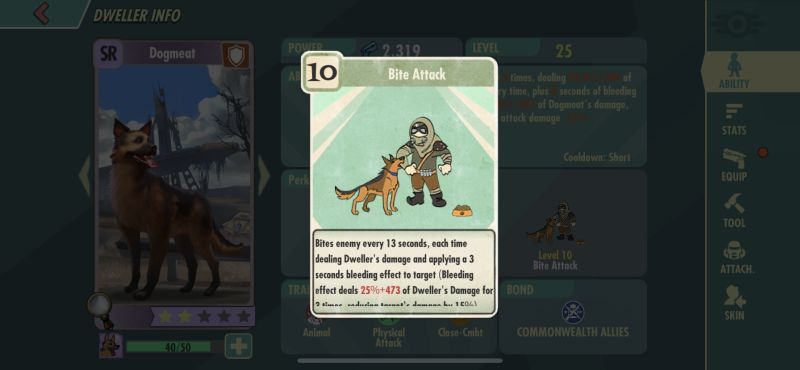 fallout shelter online bite attack