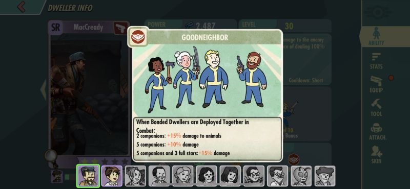 how to maximize bonds in fallout shelter online