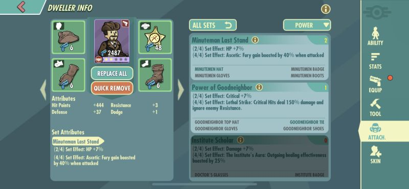 fallout shelter online dweller attributes