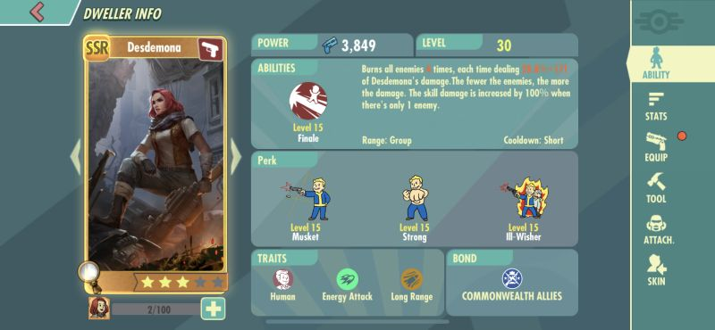 fallout shelter online hero abilities