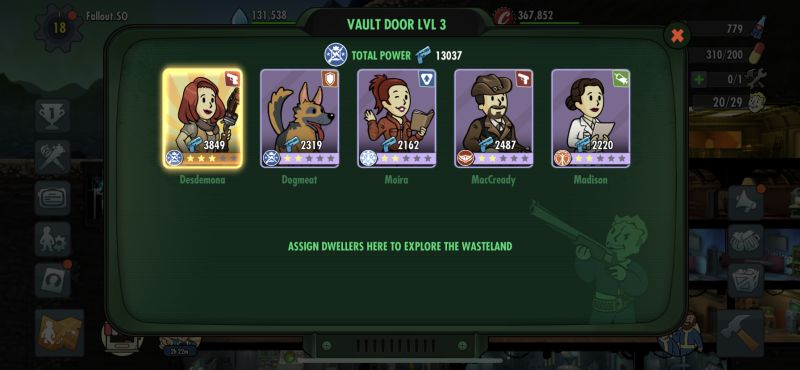 how to boost power in fallout shelter online