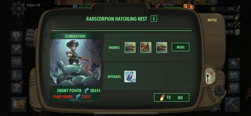 fallout shelter online radscorpion hatchling nest