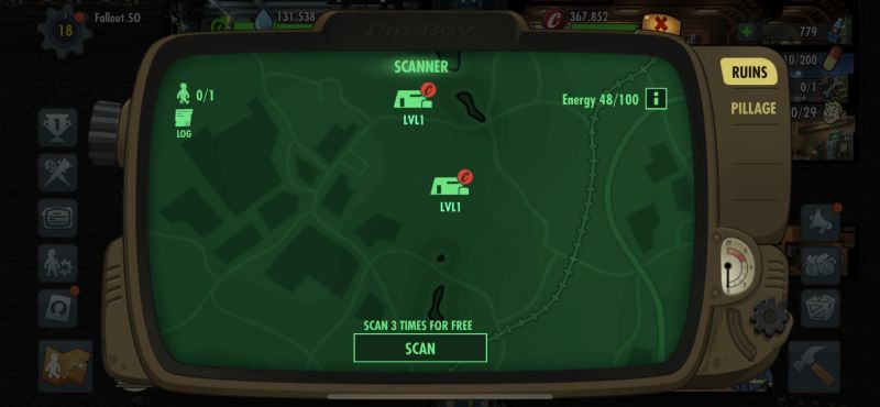 fallout shelter online scan