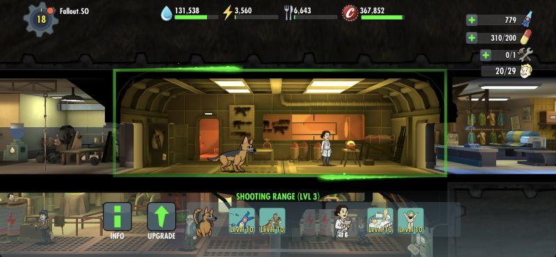 fallout shelter online shooting range