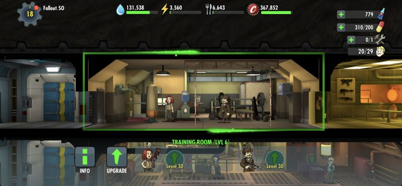 fallout shelter online training room