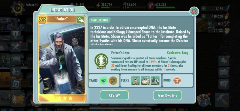 father fallout shelter online