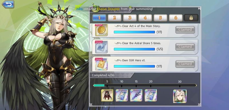 goddess of genesis event rewards