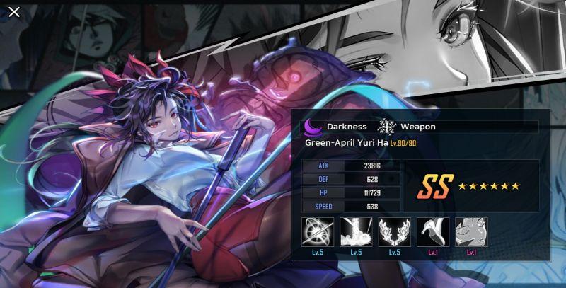 green-april yuri ha hero cantare