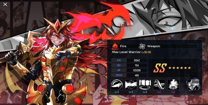 max level warrior hero cantare