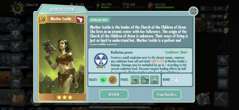 mother isolde fallout shelter online