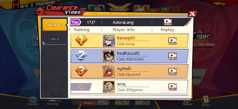 one punch man the strongest leaderboards