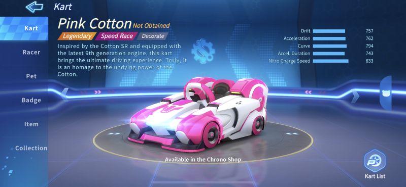pink cotton kartrider rush+