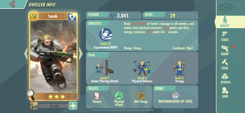 sarah fallout shelter online