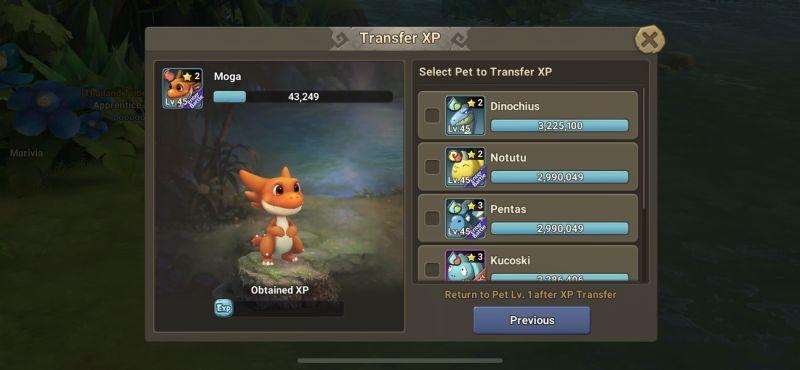 stoneage world transfer xp