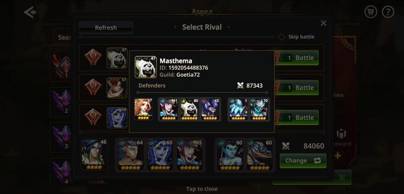 how to win arena battles in summoners era