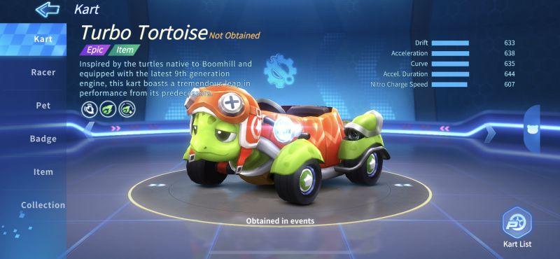 turbo tortoise kartrider rush+