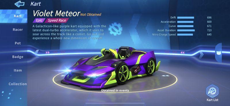 violet meteor kartrider rush+