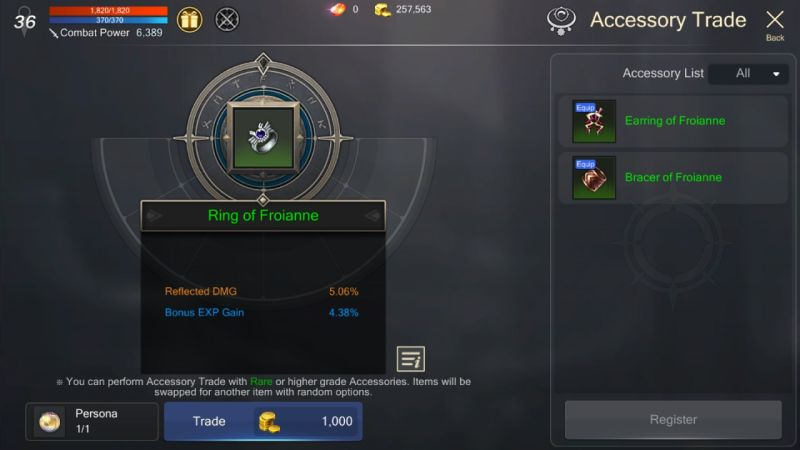 how to trade accessories in rohan m