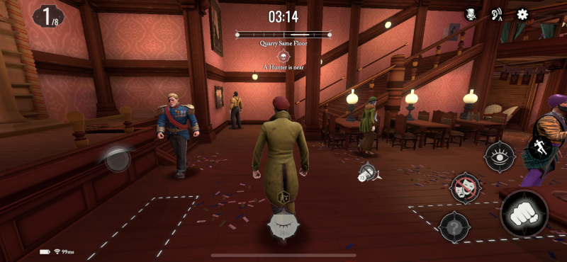 acting like npcs in murderous pursuits mobile