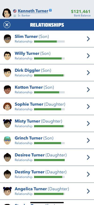 family relationships in bitlife