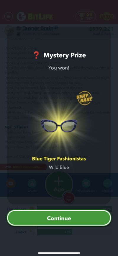mystery prize in bitlife