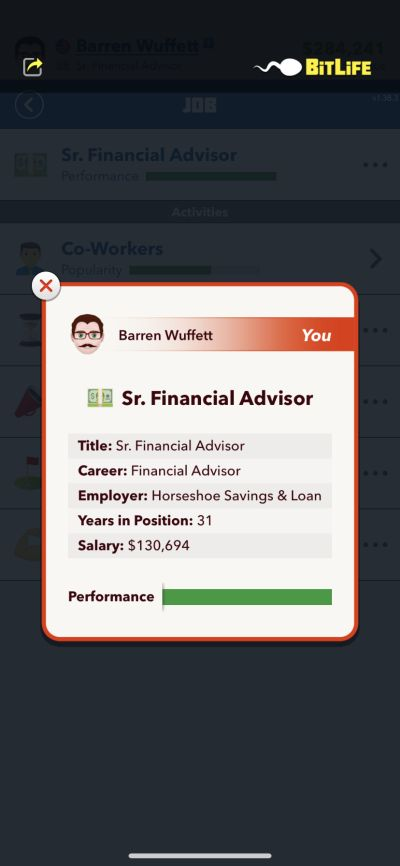 how to become a financial advisor in bitlife