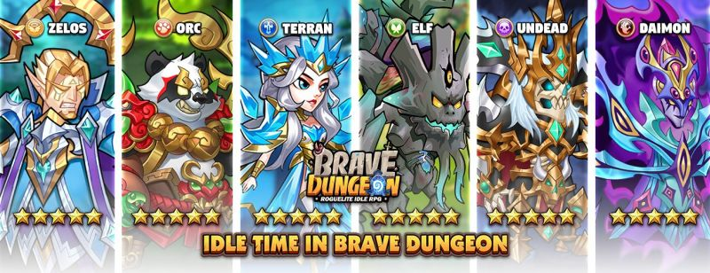 brave dungeon characters