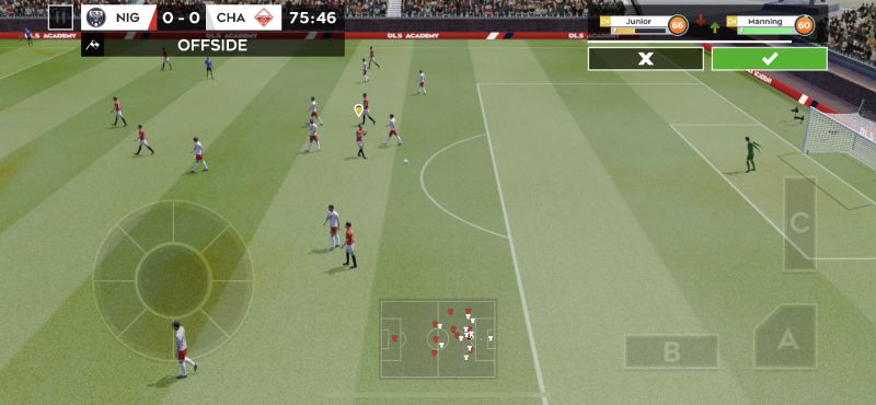 how to avoid offside violations in dream league soccer 2020