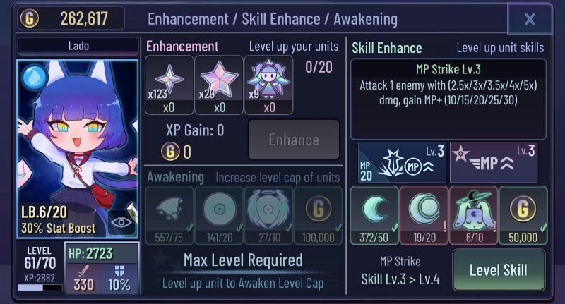 how to enhance heroes in gacha club