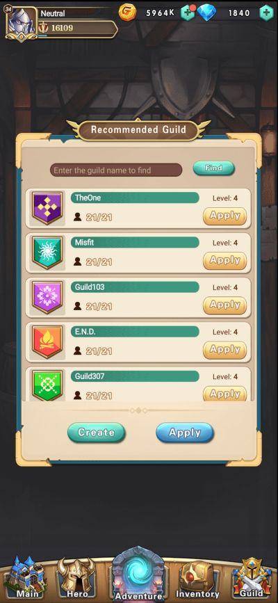 brave dungeon guild