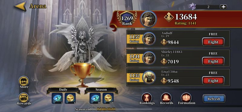 idle arena evolution legends arena
