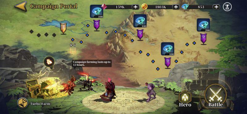 idle arena evolution legends campaign portal