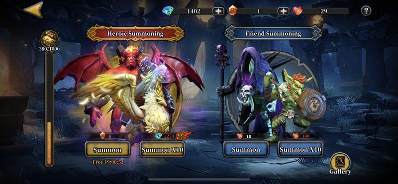 idle arena evolution legends summon altar