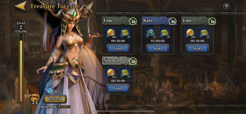 idle arena evolution legends treasure tavern