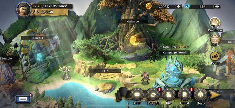 idle arena evolution legends world map